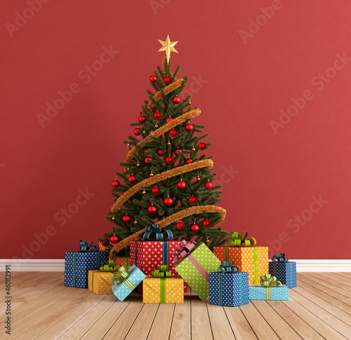 Red christams room