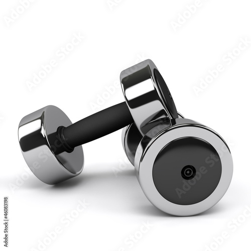 Pair of Glossy Dumbbell