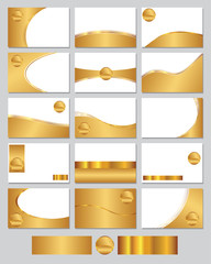 Gold coloured business cards