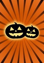 Halloween pumpkin head background.