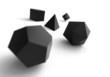Platonische Körper in 3D - Edel Schwarz