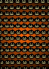 Pumkin heads background.