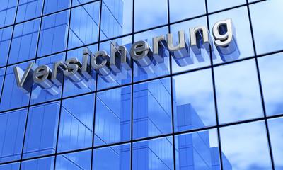 Blaue Fassade - Versicherung 2