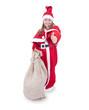 Mädchen als Weihnachtsmann