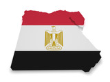 Egypt Map Flag Shape