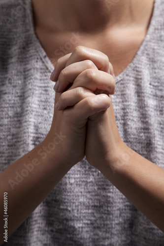 Woman's Praying Hands