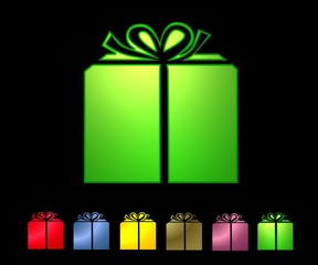 Set of color gift