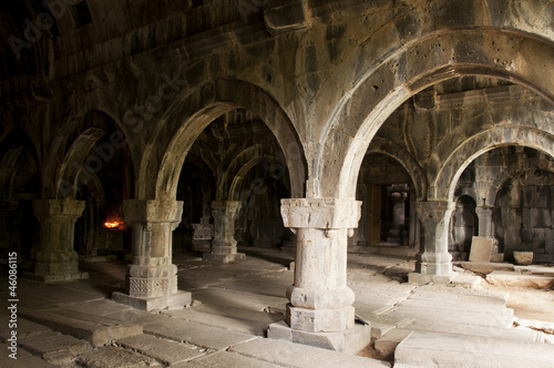 Interior of Sanahin monastery, Armenia