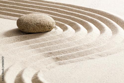 Foto op Aluminium Stenen in het Zand zen reflection