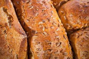 Crusty bread background