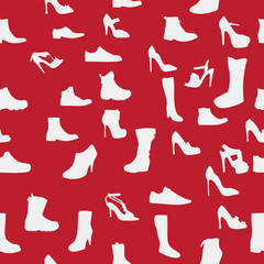 Shoes silhouette seamless pattern. vector illustration. eps10.