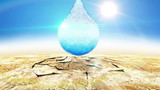 Beautiful animation of Water Drop in Desert gives new life.