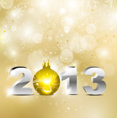 abstract golden new year background