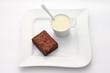 Dessert à la crème anglaise