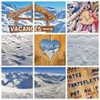 Collage vacances à la neige