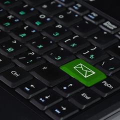 Computer mail button