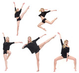 Dancer in Different Poses Isolated