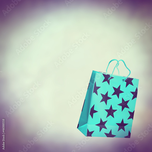 retro shopping bag