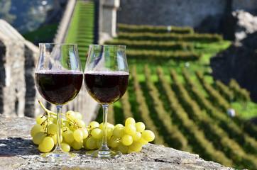 Pair of wineglasses. Bellinzona, Switzerland