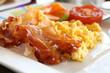 Leinwanddruck Bild - Scrambled Eggs and Bacon
