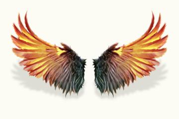 brennende Flügel