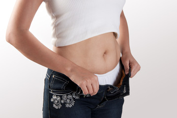 Female fatty stomach  body