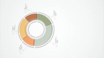 3d donut statistics business charts