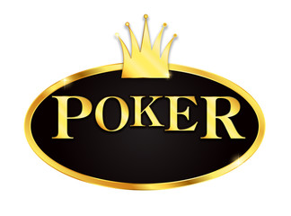 Poker icon with crown