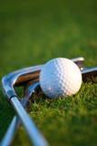 Fototapety Golf club and ball