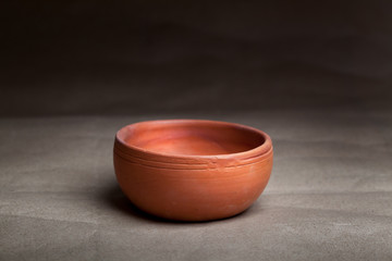 Soft clay pot : bowl