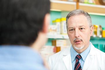 Customer asking advice to a pharmacist