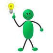 Strichmännchen - Idee mit Glühbirne