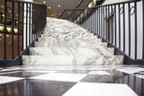 Fototapety White marble staircase