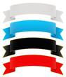 Banderole, geschwungen, Banner, Design Element, Banderolen, Set