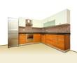 New kitchen on white background