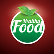Healthy food button