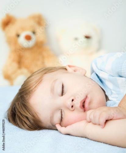 Little boy is sleeping
