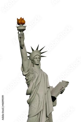 Isolated Statue of liberty - Replic