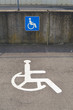 Signs of Handicapped parking in the city of Luxembourg