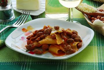 Pasta e fagioli Macarrão e feijão Pasta and beans