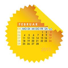 Monatskalender Februar 2013