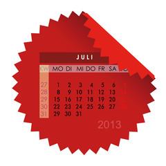 Monatskalender Juli 2013