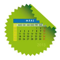 Monatskalender März 2013