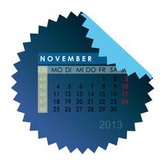 Monatskalender November 2013
