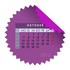 Monatskalender Oktober 2013