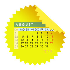 Monatskalender August 2013