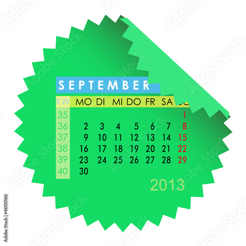 Monatskalender September 2013