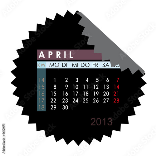 Monatskalender April 2013