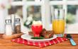 Breakfast in cafe