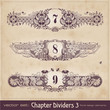 retro floral chapter dividers 3 (series)